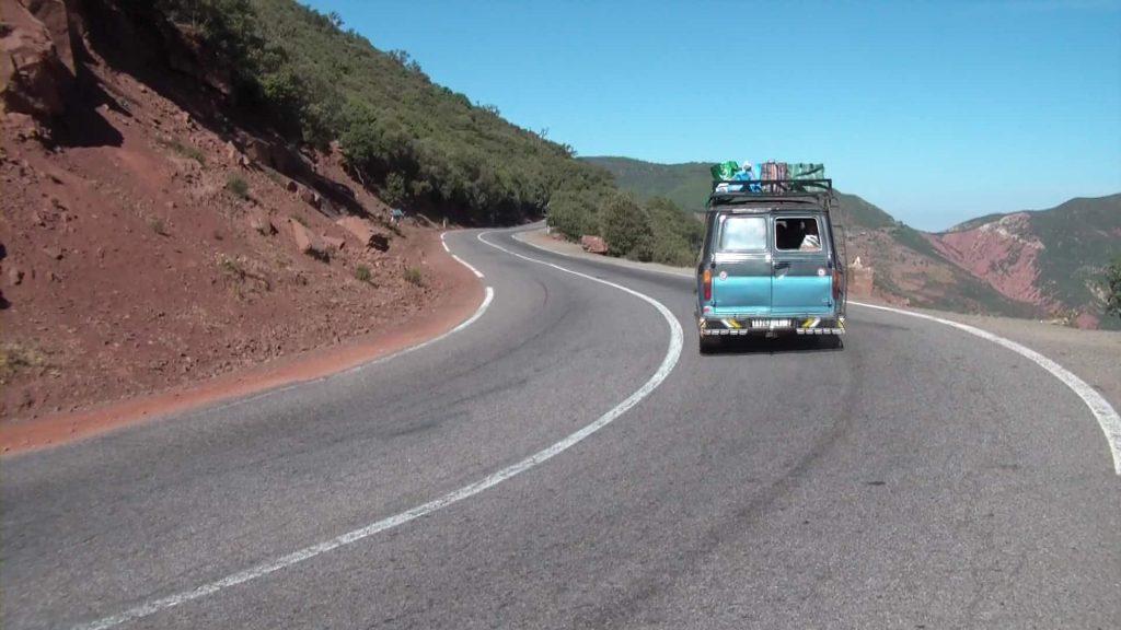 Carretera principal en Marruecos
