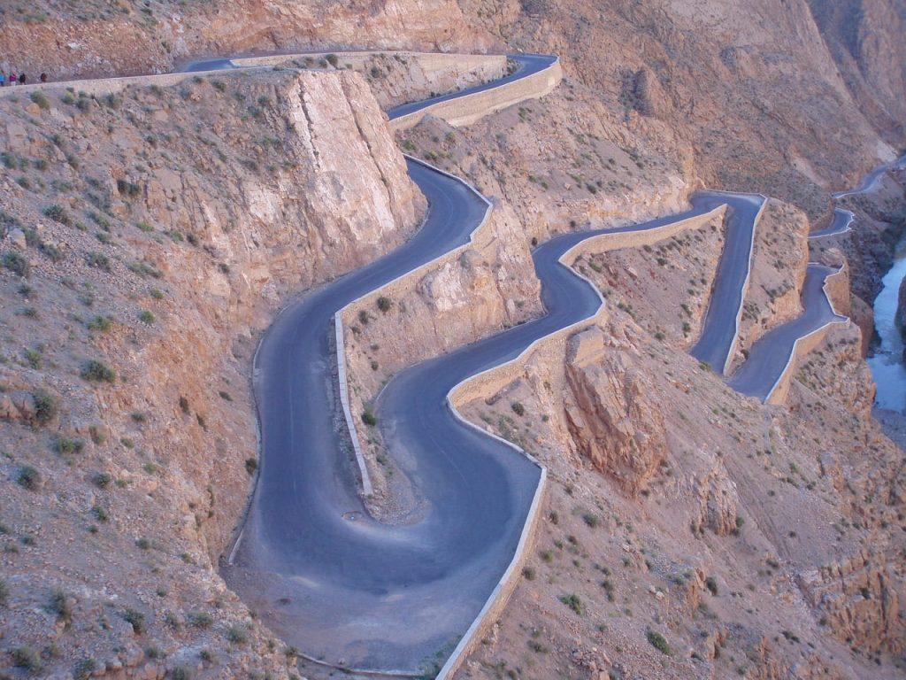 Famoso puerto de montaña de Marruecos