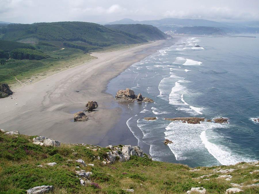 Playon de Bayas en Asturias