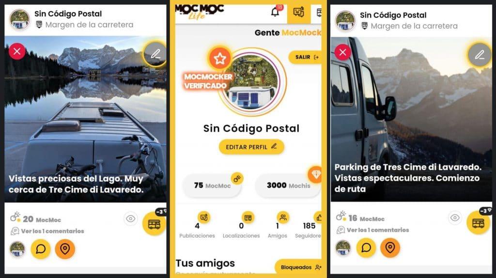 MocMoc Life Aplicación Móvil Camper