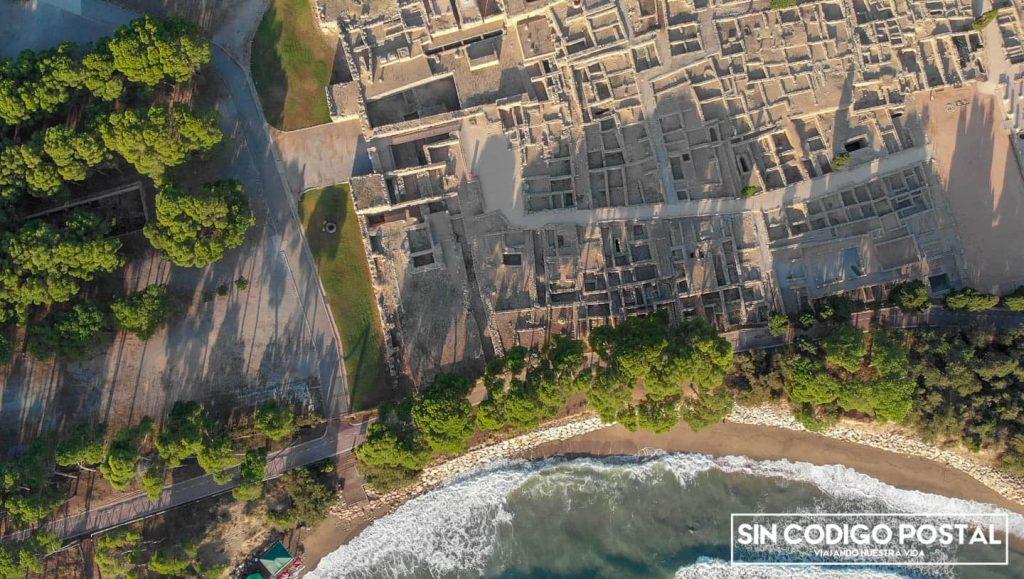 Imagen aérea de ampurias
