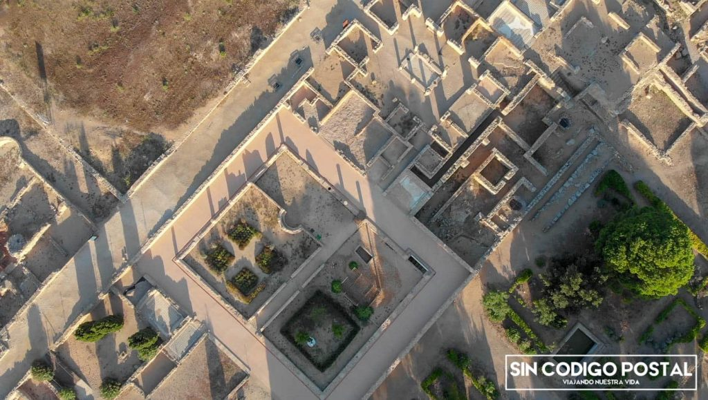Imagen aérea de las ruinas