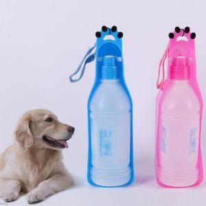 botella de agua perro