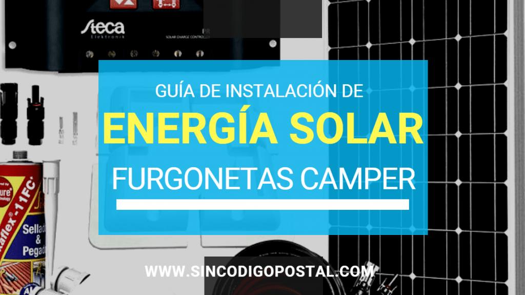 guia placa solar furgonetas camper