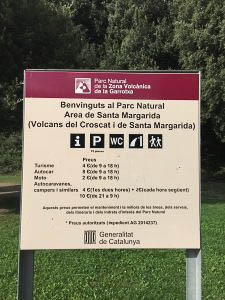 aparcamiento Santa Pau