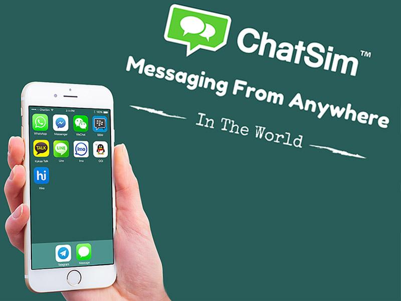 Usa tarjetas como ChatSim para tener conexión al WhatsApp en cualquier lugar del mundo