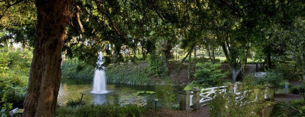 Fuente en el Jardín botánico de Gijón