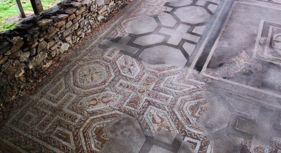 Mosaico de la villa romana de Veranes