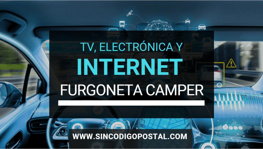 Televisión, Internet y Wifi en una furgoneta camper o autocaravana