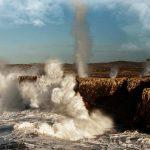 Los Bufones de Pría un día de temporal