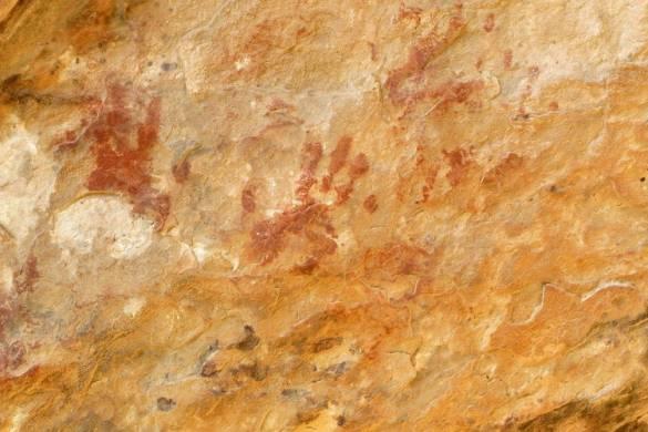 Pinturas en Cueva de la Meaza