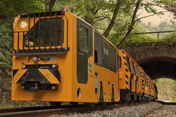 Tren minero en el museo de la minería