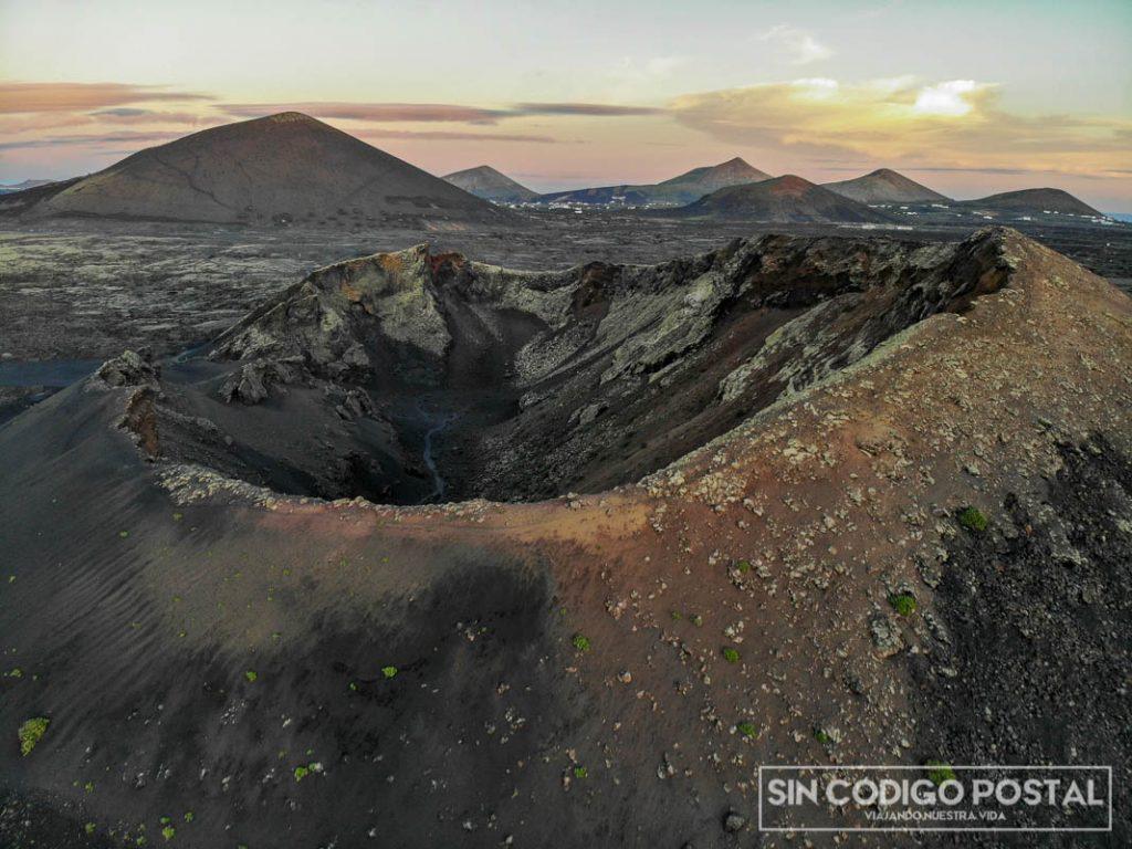 Volcán del Cuervo, en Lazarote