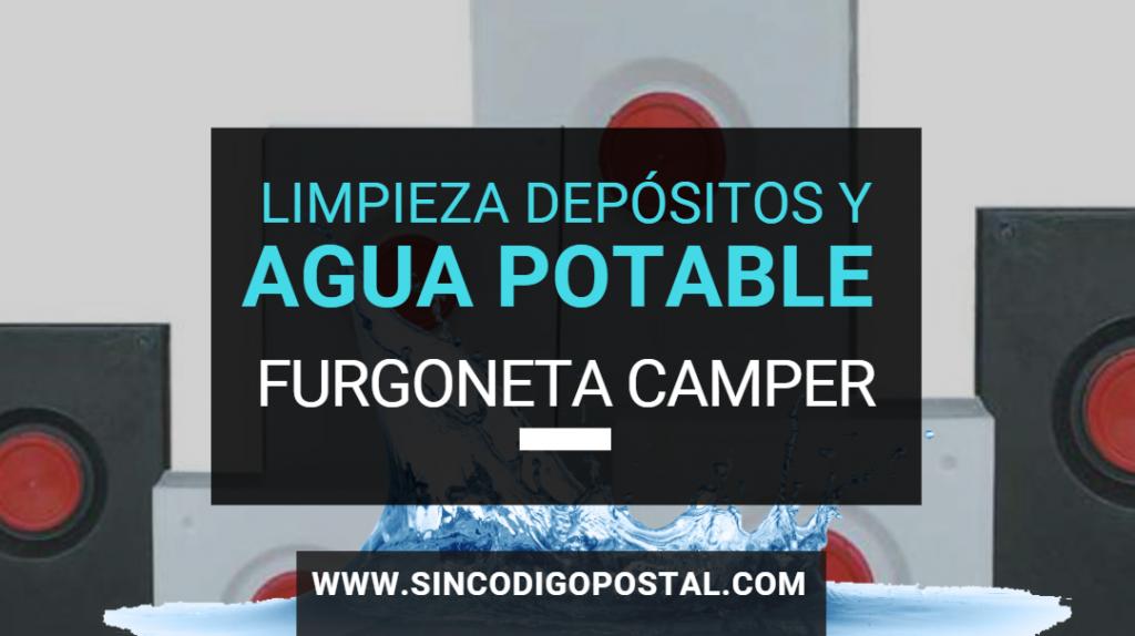 agua potable limpieza depositos camper
