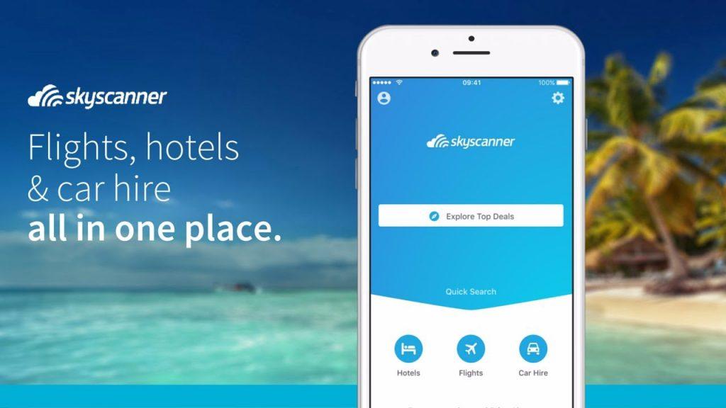 Skyscanner tiene una aplicación de móvil con un diseño bastante atractivo