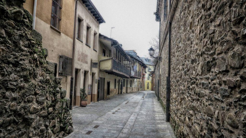 Calles del casco histórico de Ponferrada