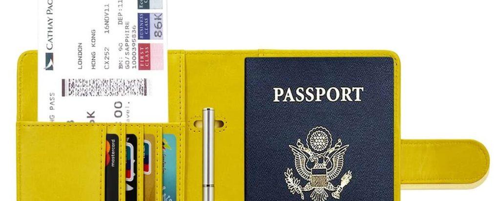 Funda para guardar el pasaporte y tarjetas