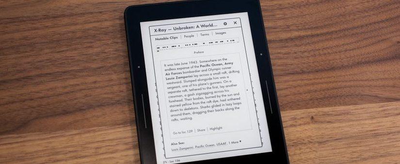 Libro electrónico con tinta electrónica
