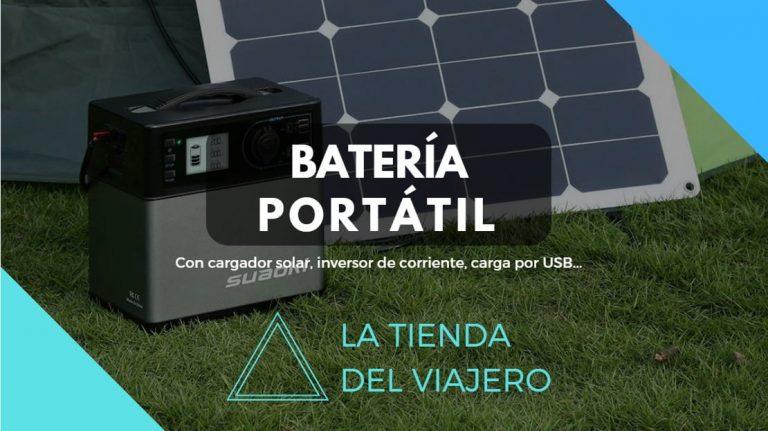 bateria portatil cargador inversor camper camping