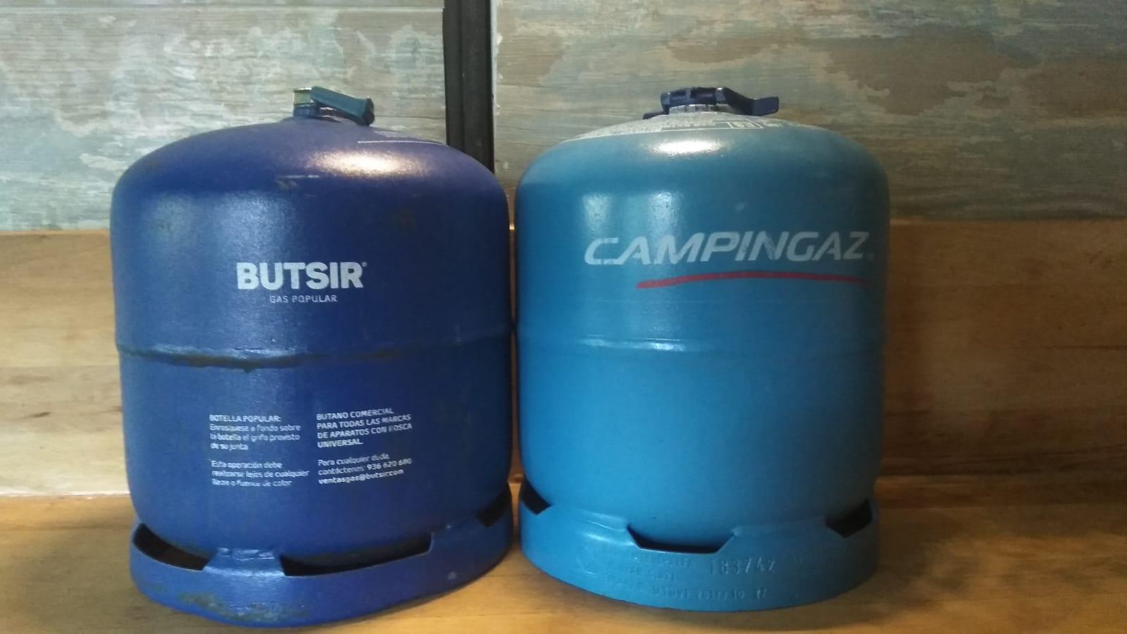 Las dos bombonas de gas