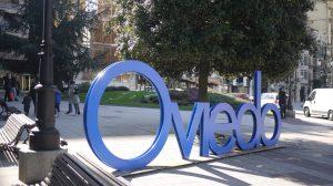 """Cartel con la palabra """"Oviedo"""""""