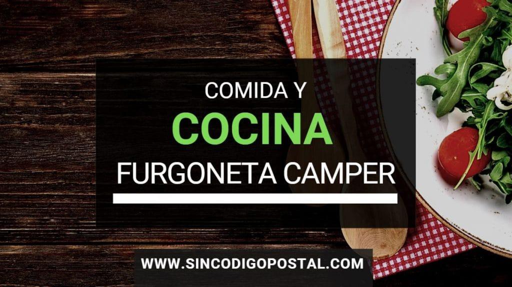 comida y cocina furgoneta camper