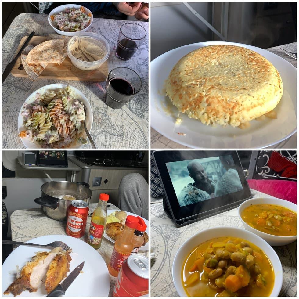 Algunas de nuestras comidas en la furgo... ñam!