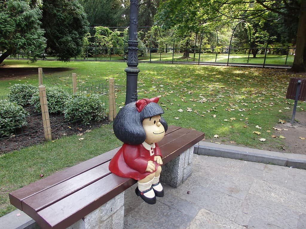 Estatua de Mafalda, entre las más destacadas de Oviedo