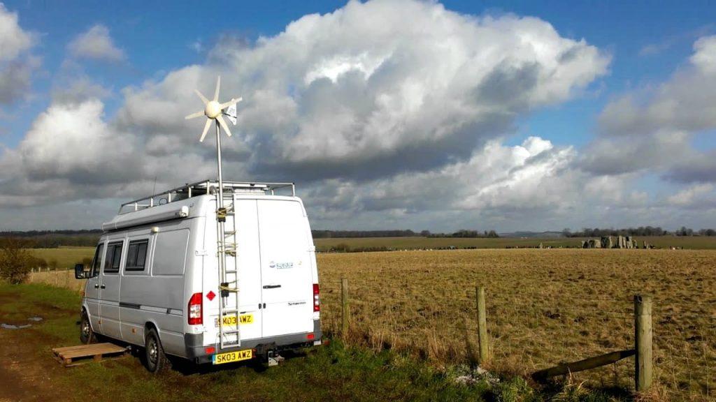 Generador eólico pequeño para furgoneta