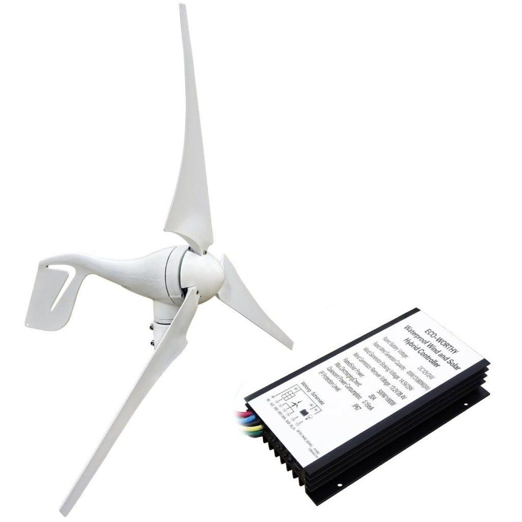 Kit típico de un generador eólico