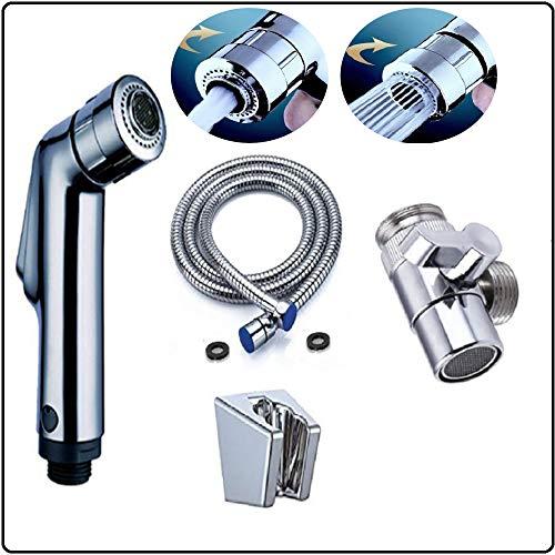 ideal-para-inodoro-suspendido-bidet-o-grifo-con-adaptador-desviador-Set-de-ducha-para-la-higiene-intima-Doble-chorro-de-aguasuave-y-entonada-ABS-Cromo-Taharat-0