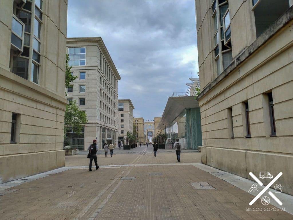 El Barrio Antiguo de la ciudad de Montpellier