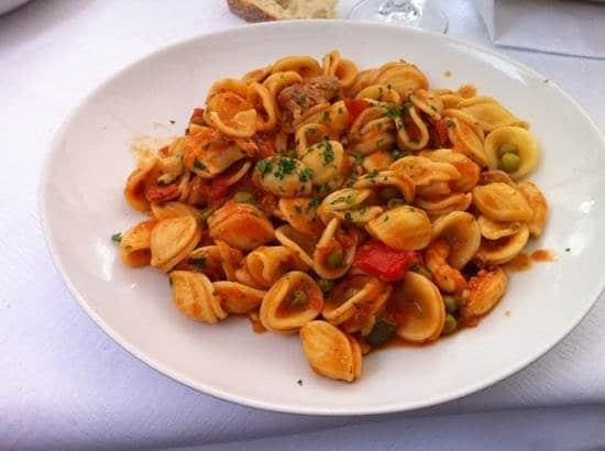 Plato de Pasta en Luna Rossa en Turín
