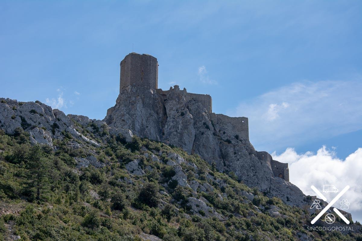 Castillo de Quéribus desde el parking