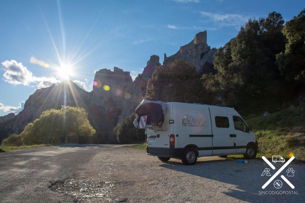 castillos cátaros en coche o furgoneta camper