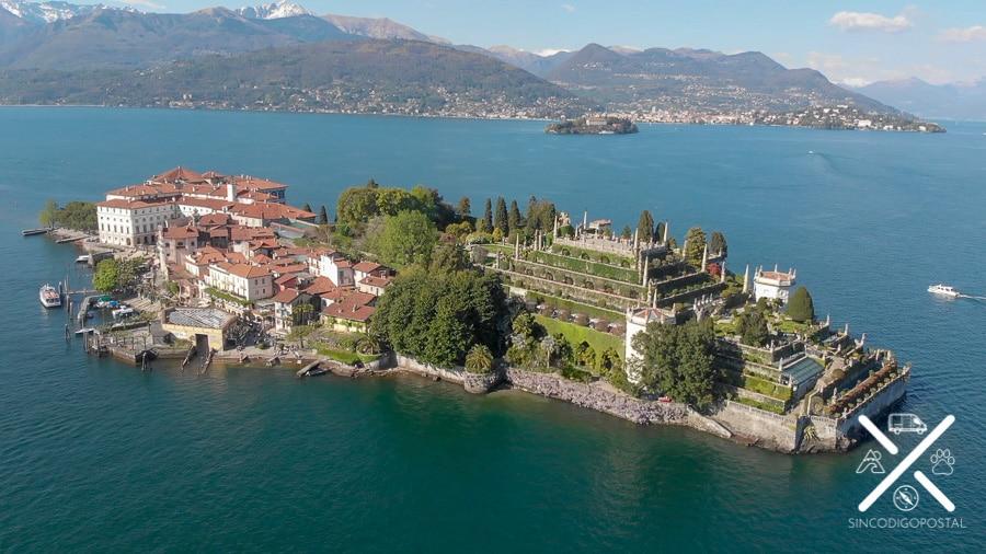 Isola Bella desde el aire