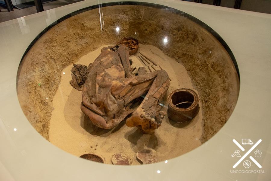 Momia en el museo Egipcio de Turín