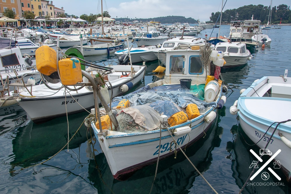 Barcos pesqueros Rovinj