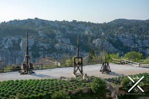 Catapultas en Baux de la Provence