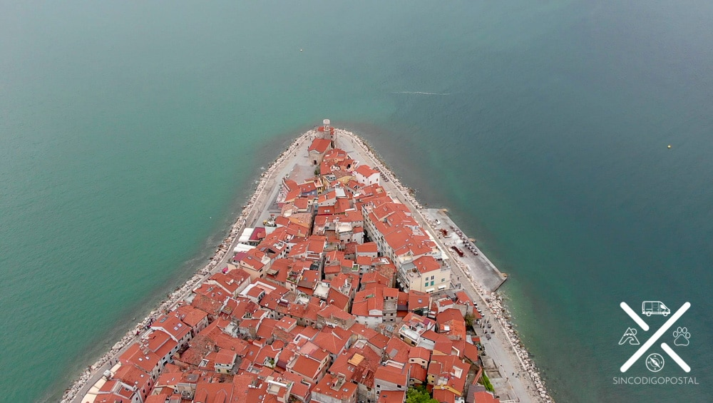 Foto aérea d Piran