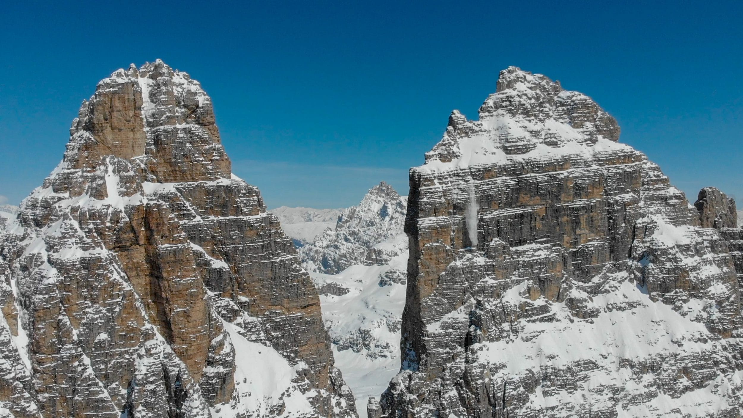 Montañas de Tre Cime di Lavaddero, antes del lago Sorapis