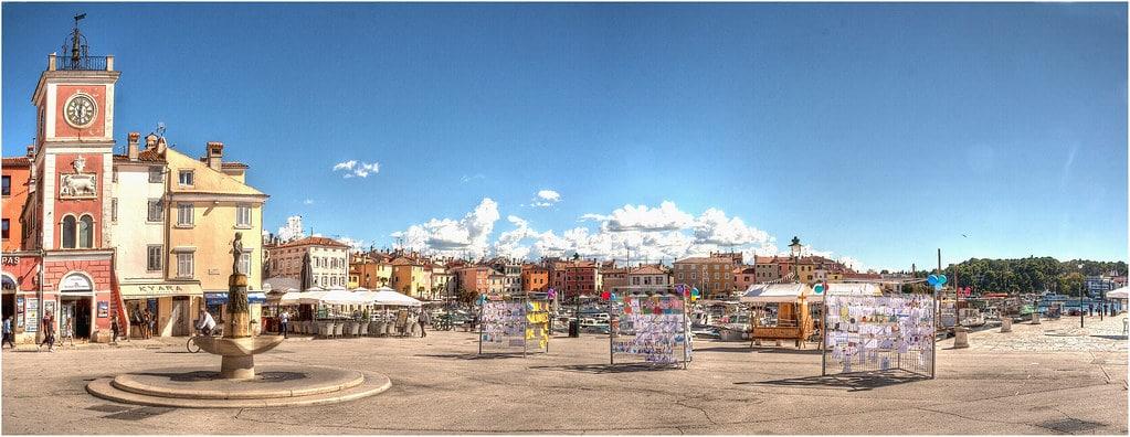 Plaza de Tito en Rovinj