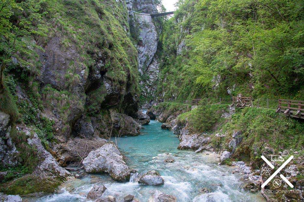 Ruta de Vintgar en Eslovenia