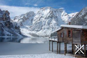 Caseta en el Lago di Braies para alquilar barcas