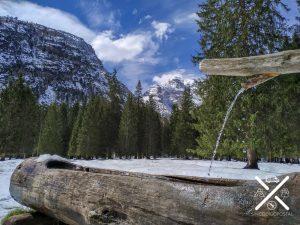 Bebedero de agua en una ruta
