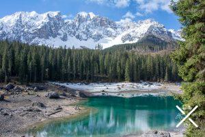 Imagen del lago Carezza