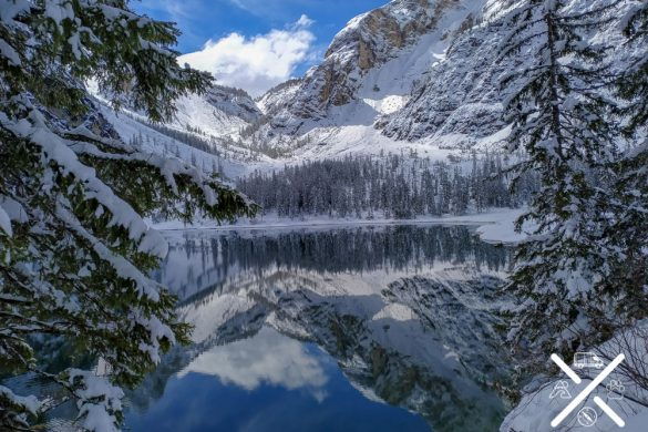 Lago di Braies nevado