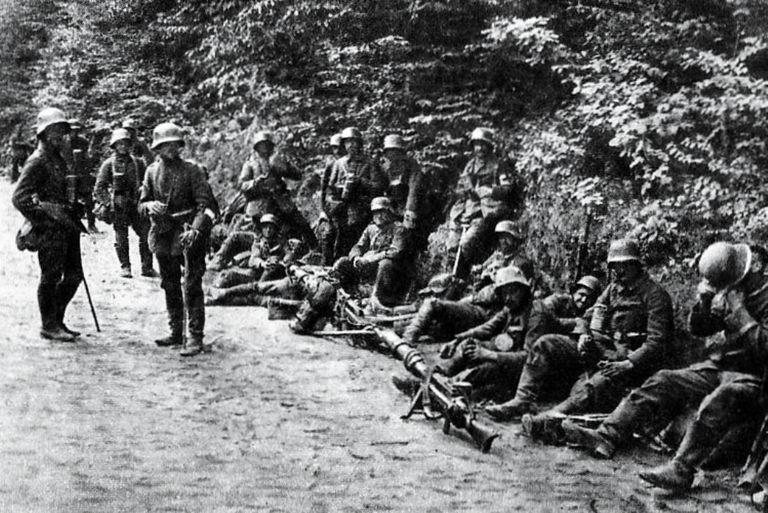 Soldados en las Batallas del Isonzo