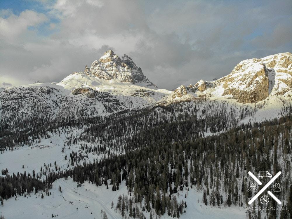 Valle nevado de las tres cimas