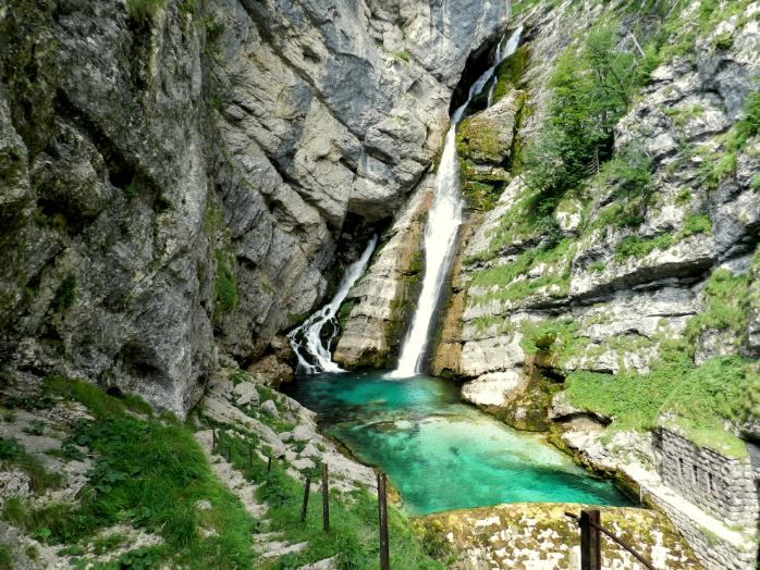 Cascada Savica, cerca de Bovec